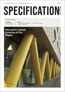 Encasement feature in Specification magazine